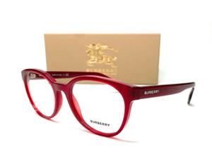 Burberry BE2315F 3495 Red Demo Lens Women's Round Eyeglasses Frame 52mm