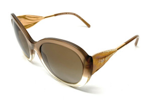 New Burberry BE 4191 3547/13 Gold Women Authentic Sunglasses 57-21