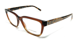 Burberry BE2230 3598 Brown Women Authentic Square Eyeglasses Frame 53-17