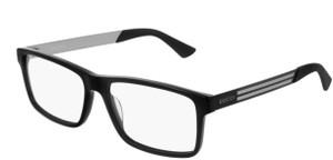 GUCCI GG0692O 004 Black Rectangle Men's 57 mm Eyeglasses