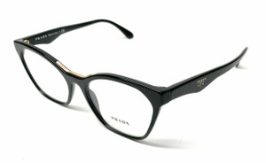 Prada VPR 09U 1AB-1O1 Black Women's Authentic Eyeglasses Frame 54mm
