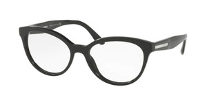 PRADA VPR 05U 1AB-1O1 Black Oval Women's 54 mm Eyeglasses