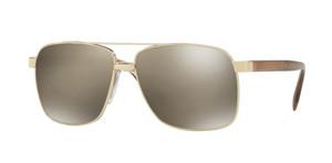 VERSACE VE2174 12525A Pale Gold Square Men's 59 mm Sunglasses