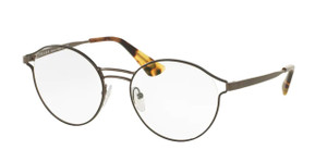 PRADA VPR 62T VHJ-1O1 Black Round Women's 50 mm Eyeglasses