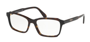PRADA VPR 01V 391-1O1 Havana Rectangle Women's 53 mm Eyeglasses