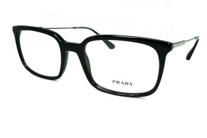 PRADA VPR 16U 1AB-1O1 Black Rectangle Men's 55 mm Eyeglasses