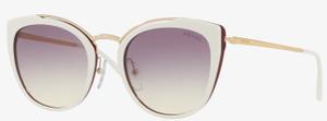 PRADA SPR 20U YNC-226 White Cat Eye 54 mm Women's Sunglasses