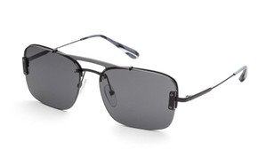 PRADA SPR 56V 7AX-5S0 Black Rectangle Men's 33 mm Sunglasses