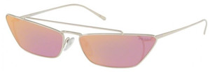 PRADA SPR 64U 1BC-338 Silver Pink Mirror Women's 67 mm Sunglasses