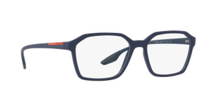 PRADA VPS 02M TFY-1O1 Blue Rubber Square Men's 55 mm Eyeglasses
