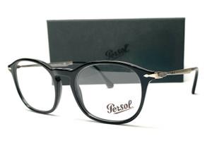 PERSOL PO3179V 95 Black Demo Lens Unisex Eyeglasses 51 mm