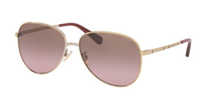 COACH HC7094 900514 Light Gold Pilot Women's 60 mm Sunglasses
