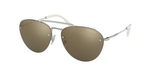 MIU MIU SMU 54U 1BC-1C0 Silver Pilot Women's 59 mm Sunglasses