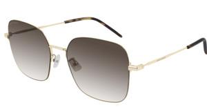 SAINT LAURENT SL410 Wire 001 Gold Square Round Women's 59 mm Sunglasses