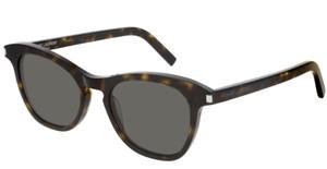 SAINT LAURENT SL356 002 Havana Cat Eye Round Women's 49 mm Sunglasses