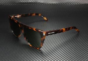 SAINT LAURENT SL 1 003 Havana Square Rectangle Unisex 59 mm Sunglasses