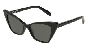 SAINT LAURENT SL244 Victoire 001 Black Cat Eye Women's 51 mm Sunglasses