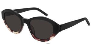 SAINT LAURENT SL M60 004 Havana Oval Women's 54 mm Sunglasses