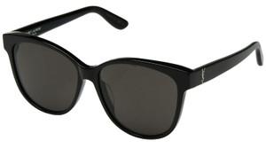 SAINT LAURENT SL M23/K 005 Black Round Women's 58 mm Sunglasses