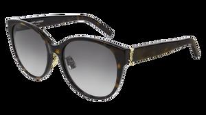 SAINT LAURENT SL M39/K 003 Havana Round Women's 57 mm Sunglasses