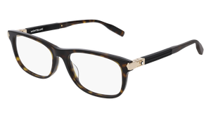 MONT BLANC MB0036O 007 Havana Rectangle Men's 56 mm Eyeglasses
