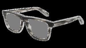 MONT BLANC MB0014O 003 Havana Grey Rectangle Men's 55 mm Eyeglasses