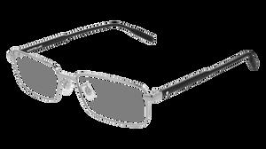 MONT BLANC MB0087O 002 Silver Rectangle Men's 56 mm Eyeglasses