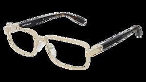 MONT BLANC MB0034O 003 Gold Rectangle Men's 56 mm Eyeglasses