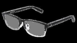 MONT BLANC MB0015O 004 Black Rectangle Men's 58 mm Eyeglasses
