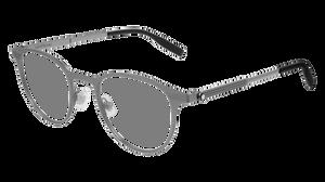 MONT BLANC MB0095O 003 Ruthenium Round Men's 48 mm Eyeglasses