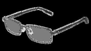 MONT BLANC MB0087O 001 Ruthenium Rectangle Men's 56 mm Eyeglasses