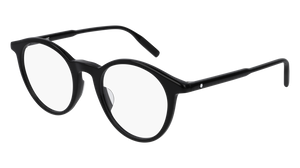 MONT BLANC MB0009O 005 Black Round Men's 50 mm Eyeglasses