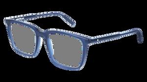 MONT BLANC MB0011O 007 Blue Rectangle Men's 54 mm Eyeglasses