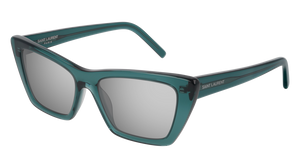 SAINT LAURENT SL 276 Mica 010 Green Cat Eye Women's Sunglasses