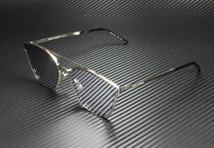 SAINT LAURENT SL 28 Metal 006 Silver Square Unisex 61 mm Sunglasses