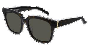 SAINT LAURENT SL M40 004 Havana Square Women's 54 mm Sunglasses