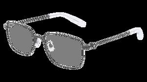 MONT BLANC MB0086OK 004 Ruthenium Square Men's 56 mm Eyeglasses