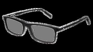 MONT BLANC MB0086O 001 Black Rectangle Men's 54 mm Eyeglasses