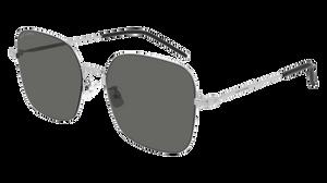 SAINT LAURENT SL 410 Wire 004 Silver Square Women's 59 mm Sunglasses