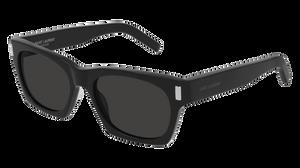 SAINT LAURENT SL 402 005 Black Rectangle Unisex Polarized 54 mm Sunglasses
