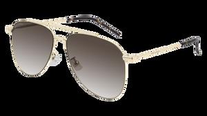 SAINT LAURENT SL 392 Wire 001 Gold Aviator Women's 57 mm Sunglasses