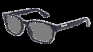 GUCCI GG0749O 006 Blue Rectangle Men's 55 mm Eyeglasses