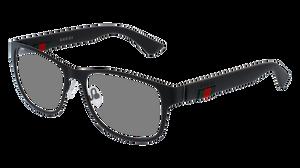 GUCCI GG0013O 001 Black Rectangle Men's 55 mm Eyeglasses