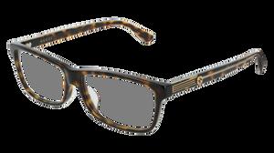 GUCCI GG0378OA 002 Havana Rectangle Men's 55 mm Eyeglasses