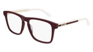 GUCCI GG0561O 003 Burgundy Square Men's 54 mm Eyeglasses