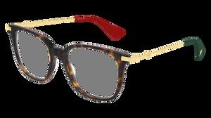 GUCCI GG0110O 007 Havana Square Women's 51 mm Eyeglasses