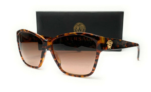 VERSACE VE4277 511513 Animalier Brown Brown Gradient Women's Sunglasses 60 mm