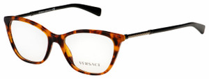VERSACE VE3248 5074 Havana Cat Eye Square Women's 52 mm Eyeglasses