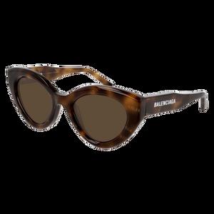 BALENCIAGA BB0073S 002 Havana Oval Women's 51 mm Sunglasses