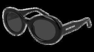 BALENCIAGA BB0074S 001 Black Oval Women's 50 mm Sunglasses